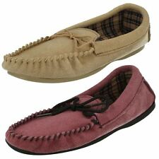 Ladies Bella Suede Leather Moccasin Slippers ~ K