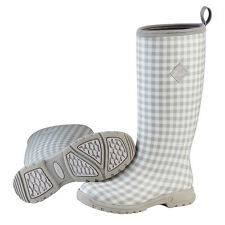 Muck Boots Breezy Tall Insulated Rain Boot for Ladies Women's - Grey Gingham