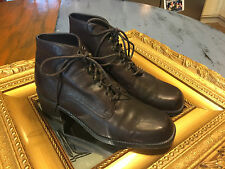 MOOTSIES TOOTSIES WEEKENDER Boots 8.5 M LEATHER GRANNY LACE UP GOTH GRUNGE EUC