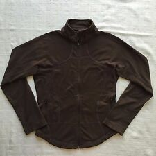 Lululemon Forme Jacket Chocolate Brown Fitted Full Zip Pockets Athletics Size 8