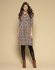 Monsoon abstract print stretch jersey dress-Empire line~8  10 ~New