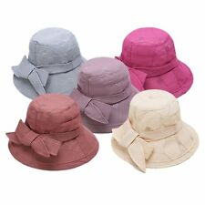 Elegant Ladies Women Sun Hat Wide Brim Summer Beach Straw Bowknot Derby Cap LOT