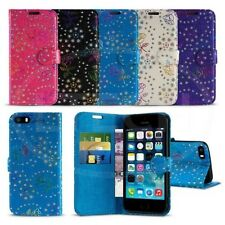 Apple iPhone 5 / 5S - Textured Diamond Flower Wallet Case Cover w/ SP