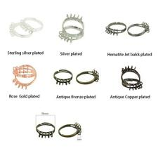 10pcs Vintage Adjustable Ring Brass 10 loops Ring Blank Base DIY Jewelry Design
