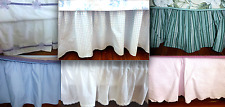 POTTERY BARN KIDS Twin Full Queen Crib White Pink Blue Grn  Bedskirt Dust-Ruffle