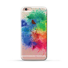 Ultra Case Colorful Splash Paint TPU Silicon Rubber Clear Case Cover for iPhone