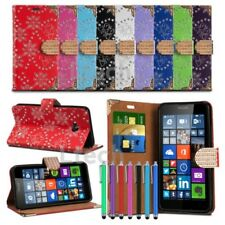 Sony Xperia E4 Bling Glitzy Diamond Tab Glamorous Wallet Cover & Stylus Pen