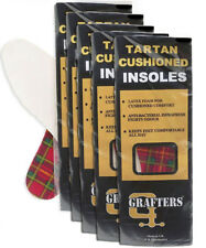Grafters Ladies Insoles Shoes, Boots & Trainers in Tartan Foam Qty 14 Pairs