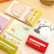 Animal Cat Pandas Kawaii Memo Sticky Notes Planners Stickers Paper Bookmark fo