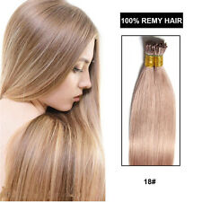 Fusion I Tip Hair Extension Straight Pre bonded I Tip Remy Human Hair Extension