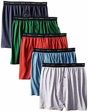 Hanes Red Label Men's 5-Pack FreshIQ Exposed-Waistband Knit Boxers , Assorted.