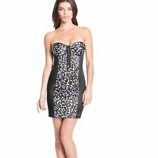 New Women's GUESS Tatiana Strapless Leopard Print Dress