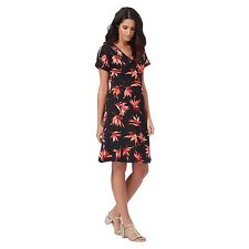 The Collection Womens Black Tropical Floral Print Dress From Debenhams