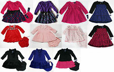 NWT Girls Dress long sleeve NEW Chaps holiday  outfit Xmas NB 3m 6 18m 24m 2T 3T