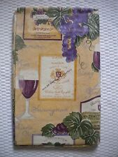 "Elrene Brand Vinyl Tablecloth 52"" x 70"" & 90"" obl 52"" Sq 60"" Rnd GRAPES & WINE"
