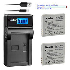 Kastar NB-4L Battery Charger for Canon PowerShot SD630 SD750 SD780 IS SD1100 IS