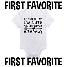Mommy Baby Onesie Bodysuit Shirt Infant Unisex Shower Gift Mom Funny Cute Gerber