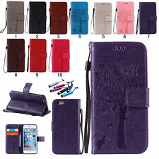 For Apple iPhone Leather Pouch Stand Wallet Case Cover Magnetic Flip Card Holder