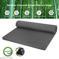 "2""  Bamboo Charcoal Infused Memory Foam Mattress Pad Bed Topper Twin/Full/Queen"