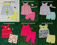 NEW Toddler Girls' 2 or 3 Piece Outfit - Dressy Top and Shorts/Pants 18M 24M 4T