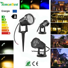 9W Outdoor Garden Yard LED Path Spot Light Fence Wall Lawn Pond Landscape Lamp