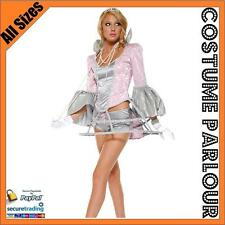 Womens Lady Gaga Gown Ball Flapper Space Ladies Fancy Dress Costume All Sizes