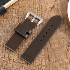 24/26MM Genuine Leather Strap Men Women Watch Band Replacement+2 Spring Bars