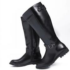 Fashion Mens Knee High Boots Faux Leather Riding Equestrian Army Shoes US SZ6-10