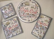 New Cape Cod Map Paper Plates Lunch Cocktail Guest NAPKINS You choose!!