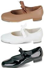 NEW Dance Shoes Tyette Tap Black Patent White Tan ALL SIZES Child-Adult