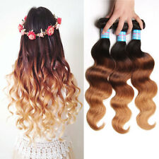 Ombre 3Tone Malaysian Body Wave Hair 1B/4/27 Human Hair Extensions 3Bundles/300g