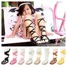 0-18M Baby Toddler Soft Sole Sandals Laces-Up Bandage Girls Casual Sandals Shoes