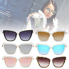 New Womens Stylish Ladies Retro Vintage Cat-Eye Mirror Plastic Sunglasses ZM