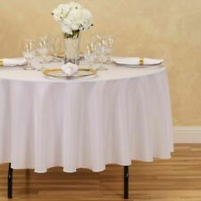 """12 PACK 90"""" inch ROUND Tablecloth Polyester WEDDING Banquet Overlay 25 Colors"""