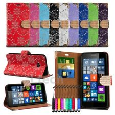 Sony Xperia E4g Bling Diamond Encrusted Tab Case Cover Wallet & Mini Stylus