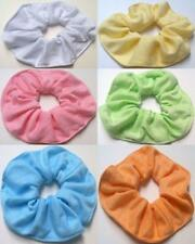 Two Hair Scrunchie Solid Color Pastel Women Pony Tail Holder Hair Accessories