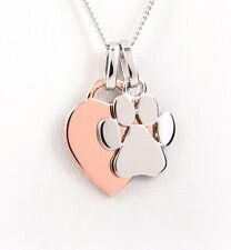 Engraved Paw Print Necklace - Pet Lovers - Dog Lover Gift Dog Memorial Keepsake