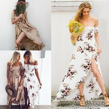 Women BOHO Long Evening Party Cocktail Prom Floral Summer Beach Sun Maxi Dresses