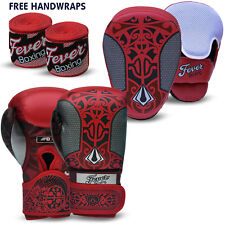 Professional Boxing Sparring Gloves Focus Pads Hook and Jab MMA Punch Bag RED