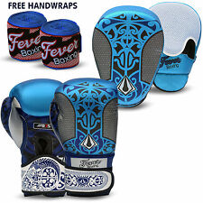 Professional Boxing Sparring Gloves Focus Pads Hook and Jab MMA Punch Bag BLUE