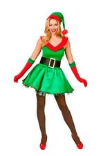 Womens Ladies Sexy Christmas Green Babe Santa Fancy Dress Costume Parties Outfit