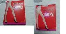 Spanx Luxe High Waist Leg Shaping Sheer Pantyhose NUDE03-SIZE B/BLACK A -$32-NIB