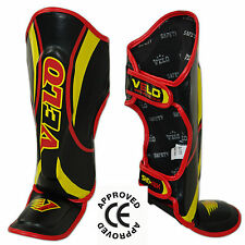 VELO Kids Junior Muay Thai mma Shin Pads instep Protective leg foot Guards