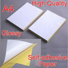 21x29cm A4 Blank Glossy Self-adhesive Sticker Sticky Back Label Printing Paper