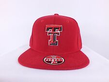 TEXAS TECH RED RAIDERS NCAA ADULT RED FITTED CAP  BY ZEPHYR (C34)