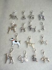 Handcrafted Dog Clip-On Charms Bone Paw Bulldog Lurcher Pug Westie Jack Russell