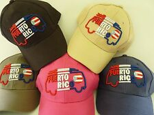 PUERTO RICO BUS SURF TABLE  FLAG 3D EMBROIDERY ADULT CAP HAT one size ADJUSTABLE