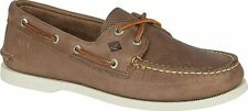 NEW MENS SPERRY TOP SIDER AUTHENTIC ORIGINAL Tan Brown Perfed Leather BOAT SHOES