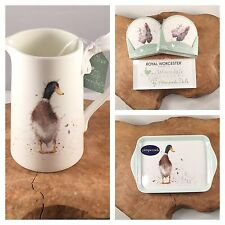 Wrendale Designs Country Set 1pt Jug, Guard Duck Scatter Tray