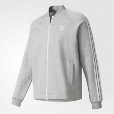 adidas Originals SUPERSTAR PREMIUM MEN'S TRACK JACKET Grey- Size S,M,L,XL Or 2XL